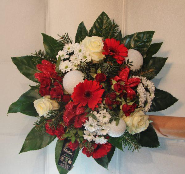 bouquet rouge et blanc noel