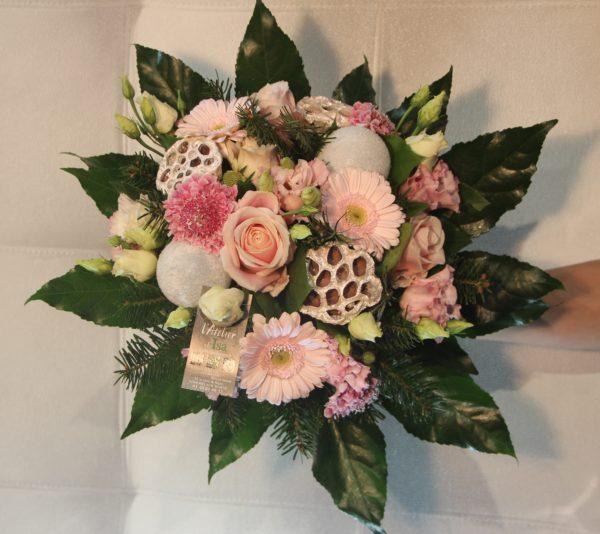 bouquet noel pastel