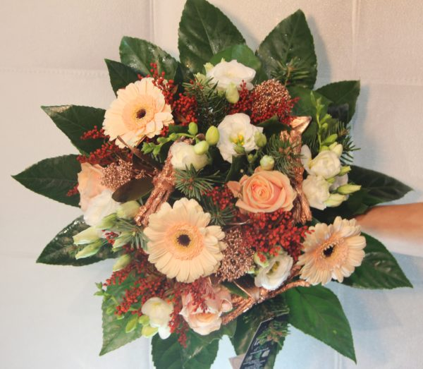 bouquet orange noel