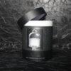 bougie parfumée et sa cloche de verre