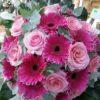 bouquet de roses et gerberas