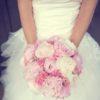 bouquet marié pivoine