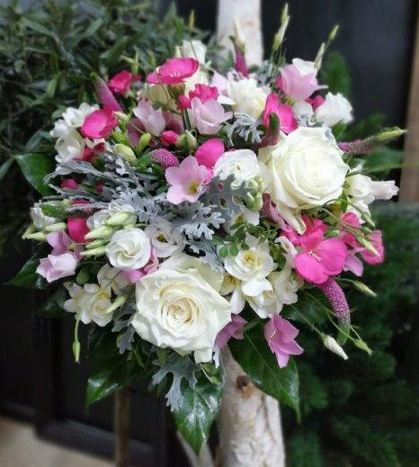 bouquet de fleurs pastel