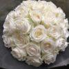 bouquet d'exception de roses blanches