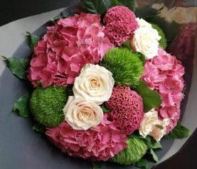 Bouquet rose soutenu
